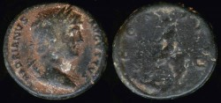 Ancient Coins - Hadrian Ae Semis - COS III, S C - Antioch Mint