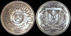 World Coins - 1974 Dominican Republic 1 Peso - 12th Central American and Caribbean Games Silver Commemorative - BU