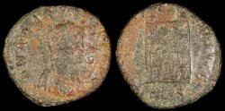 Ancient Coins - Arcadius Ae4 - GLORIA REIPVBLICE - Thessalonica Mint