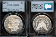 Us Coins - 1879s Morgan Dollar PCGS MS64PL