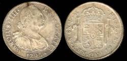 World Coins - 1796 Mo-FM Mexico 8 Reales AU