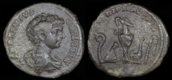 Ancient Coins - Geta Denarius - SEVERI PII AVG FIL - Rome Mint