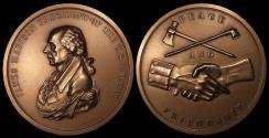 """Us Coins - 1809 James Madison """"Indian Peace Medal"""" - Fourth President of the United States (March 4, 1809 to March 3, 1817) - Original US Mint Medal by John Reich"""