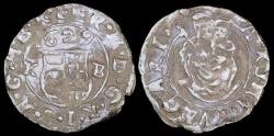 World Coins - 1629 KB Hungary 1 Denar - Ferdinand II - AU Silver