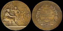 World Coins - 1898 France - Shooting Award Medal – Minister of War