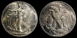 Us Coins - 1941 P Walking Liberty Half Dollar BU