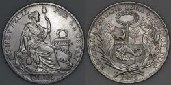 World Coins - 1934 Peru 1 Sol - AU