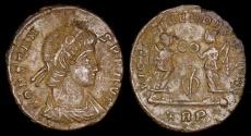 Ancient Coins - Constans Ae4 - VICTORIAE DD AVGGQ NN - Trier Mint