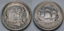 Us Coins - 1936 Long Island Tercentenary Commemorative Silver Half Dollar (Only 81,826 pieces were struck) - BU