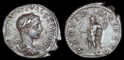 Ancient Coins - Severus Alexander Ar Denarius - MARTI PACIFERO - Rome Mint