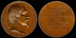 World Coins - 1848 France – Election of Louis Napoleon Bonaparte as President of France