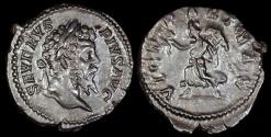 Ancient Coins - Septimius Severus Denarius - VICT PART MAX - Rome Mint