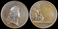 World Coins - 1693  France - Louis XIV - Institution of the Military Order of Saint Louis by Michel Molart and Jean Mauger