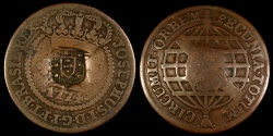 World Coins - 1809 Brazil 40 Reis Countermarked Issue - XF