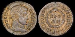 Ancient Coins - Constantine I Ae3 - D N CONSTANTINI MAX AVG - Ticinum Mint