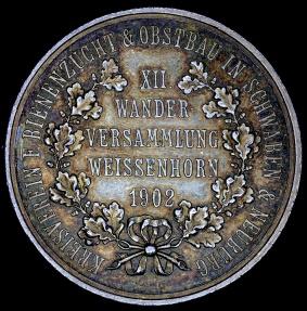 World Coins - 1902 Germany - Schwaben & Neuburg - Bee Breeding Club's Annual Hiking Meeting in Weibenhorn