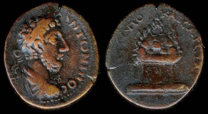 Ancient Coins - Commodus Ae30 - MHTPOP KAICAPEI - Caesarea, Cappadocia