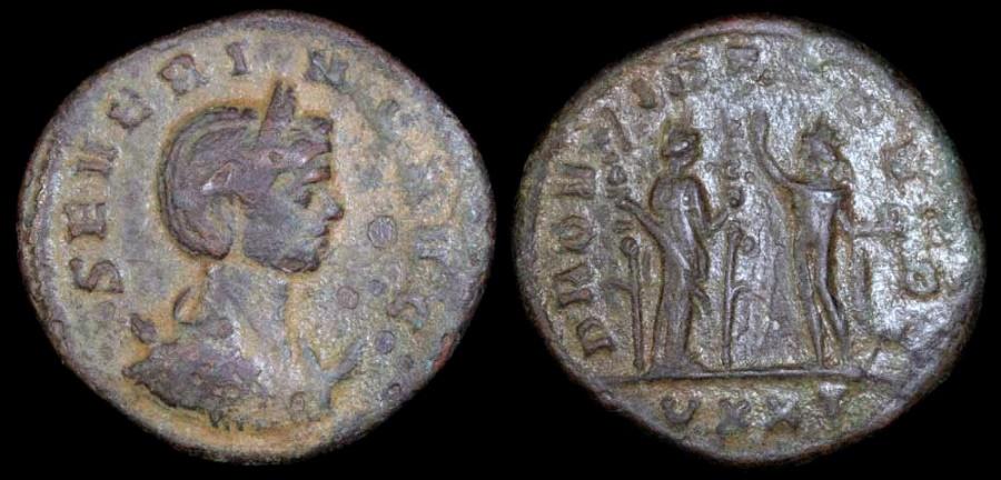 Ancient Coins - Severina Antoninianus - PROVIDEDEOR - Ticinum Mint