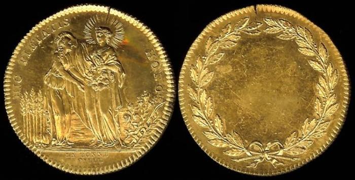 World Coins - 1790 France - Jeton - The Good Girl (Joan of Arc)