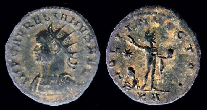 Ancient Coins - Aurelian Antoninianus - SOLI INVICTO - Tripolis Mint