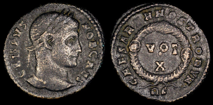 Ancient Coins - Crispus Ae3 - CAESARVM NOSTRORVM - Rome Mint