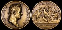World Coins - 1815 France - Napoleon - Battle of Waterloo Commemorative Medal by Émile Rogat