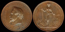 World Coins - 1867 France – Napoleon's Visit to the Lille Chamber of Commerce