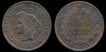 World Coins - 1872 K France 5 Centimes VF