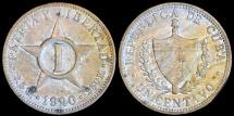 World Coins - 1920 Cuba 1 Centavo - Republic Coinage - AU