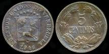 World Coins - 1946 Venezuela 5 Centimos XF