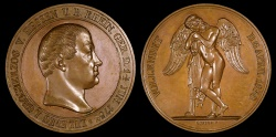 World Coins - 1830 Germany - Ludwig I (Louis I) - Grand Duke of Hesse, His Death Medal by Gottlieb Goetze