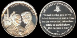 Us Coins - 1963 John F. Kennedy and John Glenn Space Medal - Silver