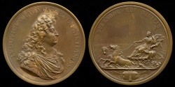 World Coins - 1693  France - King Louis XIV - The Maritime Splendor of France by Joseph Roettiers and Jean Mauger