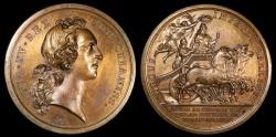 World Coins - 1745 France - Louis XV - Battle of Fontenoy by Francois Joseph Marteau