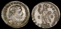 Ancient Coins - Constantine I Follis - SOLI INVIC-TO COMITI - London Mint