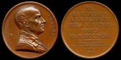 World Coins - 1825  France - Guillaume Thomas Raynal, French writer and man of letters during the Age of Enlightenment by Raymond Gayrard