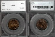 Us Coins - 1932 Washington Quarter SEGS AU58