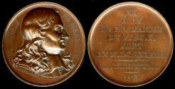 "World Coins - 1817 France - François Eudes de Mézeray, French historian and ""Historiographer to the King of France"" by Francois-Augustin Caunois / ""Galerie Metallique des Grands Hommes Français"""