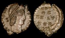 Ancient Coins - Constantius II Ae4 - VOT XX MVLT XXX - Cyzicus Mint