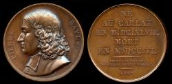 "World Coins - 1819  France - Pierre Bayle, French philosopher and writer by Francois-Augustin Caunois; from the series of ""Grands Hommes Francais""."