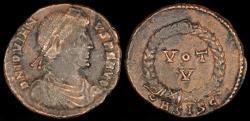 Ancient Coins - Jovian Ae3 - VOT / V - Siscia Mint