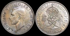 World Coins - 1939 Great Britain 1 Florin - Two Shillings - George VI - UNC