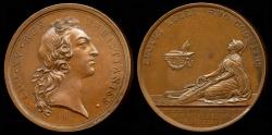 World Coins - 1744  France - King Louis XV - The King Taken Sick at Metz by Francois Joseph  Marteau and Pierre-Simon-Benjamin Duvivier