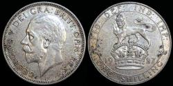 World Coins - 1927 Great Britain 1 Shilling - George V - XF