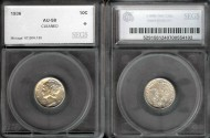 Us Coins - 1936 Mercury Dime SEGS AU58