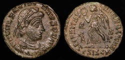 Ancient Coins - Valentinian II Ae3 - SECVRITAS REIPVBLICAE - Siscia