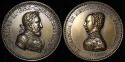 World Coins - 1555 France - Henry II and Catherine de Medici by Marc Bechot