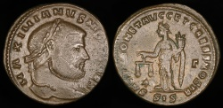 Ancient Coins - Galerius Ae Follis - SACRA MONET AVGG ET CAESS NOSTR - Siscia Mint