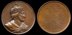 """World Coins - 1839 France - King Louis I (""""The Debonaire"""" or """"The Pius"""") by Armand-Auguste Caqué for the Galerie Numismatique des rois de France #25"""