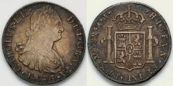 World Coins - 1796 LIMAE IJ 8 Real - Charles IIII - AU